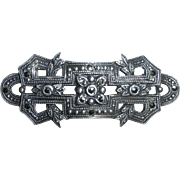 Art Deco Sterling & Marcasite Petit Pin