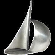 Beau Sterling Dimensional Sailboat Pin