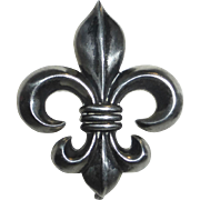 Edwardian Sterling Fleur-de-Lis Watch Pin