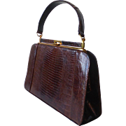 Genuine Tegu Lizard Leather Handbag Purse