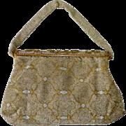 Micro Gold Metallic Beaded Evening Bag