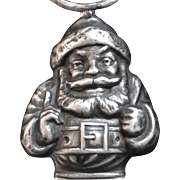 Antique Sterling Santa Claus Baby Rattle Webster Co.