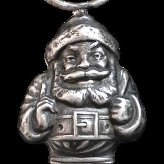 Antique Sterling Santa Claus Baby Rattle Webster Co.