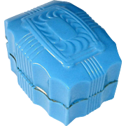 Art Deco Blue Celluloid Vintage Ring Box