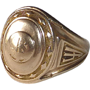 10k Domed School Ring c1941