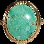 Art Deco 10k Turquoise Ring
