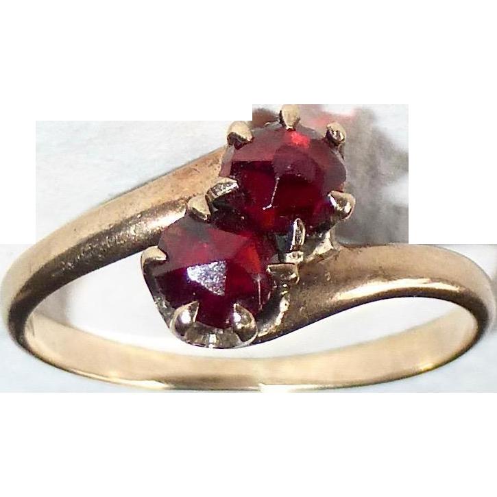 10k Rose Gold Bohemian Garnet Ring