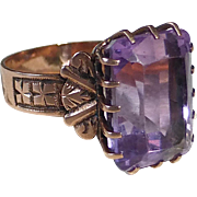 Antique Victorian 10k Rose Gold Amethyst Ring