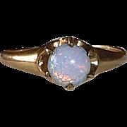 10k Rose Gold Opal Glass Ring
