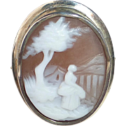 14k Victorian Rebecca by the Well Cameo Ring