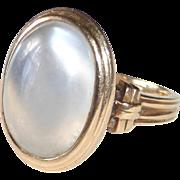 14k Blue-White Moonstone Ring