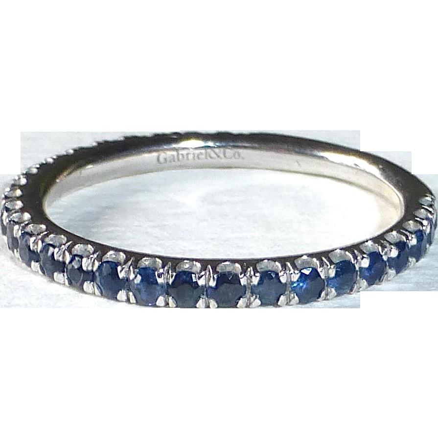 14k Sapphire Band Ring Gabriel & Co