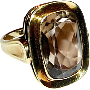 14k Smokey Quartz Ring