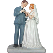Vintage Bisque Wedding Cake Topper c1970s