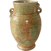Art Deco Crown Devon Vase Blended Glaze