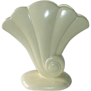 Redwing Matte Ivory Ceramic Shell Form Vase