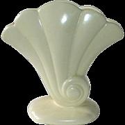 Redwing Matte Ivory Ceramic Shell Form Vase