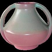 Redwing/Rumrill Blended Apple Blossom Glaze Double Handled Vase 934