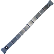 Sterling Watchband w Spring Expanding Link Design
