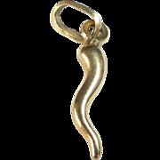 18k Italian Horn Charm or Pendant
