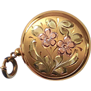 Ketcham McDougall Gold Filled Engraved Retractable Chatelaine Brooch