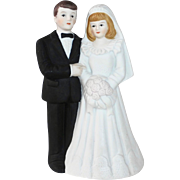 White Bisque Wedding Topper c1990