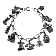 Bell Telephone Sterling Commemorative Charm Bracelet