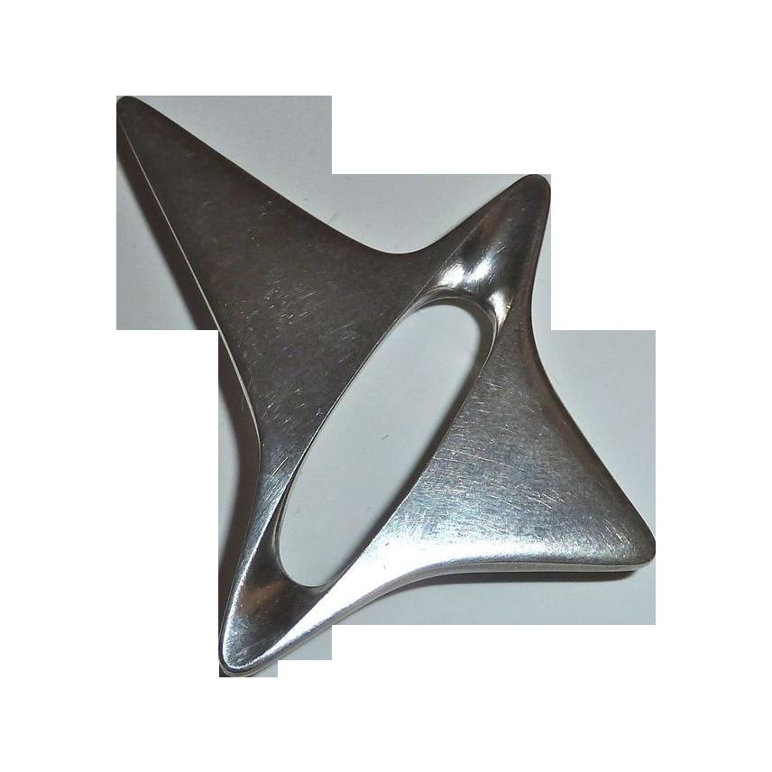 Georg Jensen Denmark Sterling Henning Koppel Modernist Pin 339