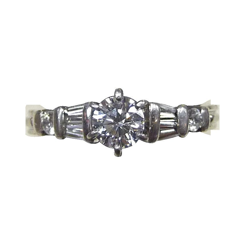 Fine Seven Diamond Platinum Ring