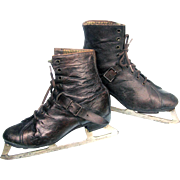 Antique Ladies Ice Skates c1897 - 1900