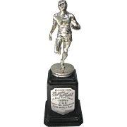 Figural Running Trophy 12 Mile Road Race 1934 CNR Stratford Winner