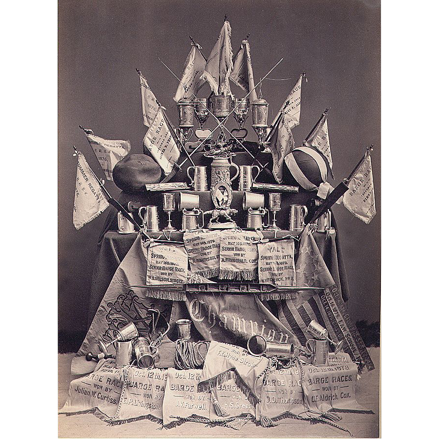 YALE Photograph Trophy Display dated 1875-1879