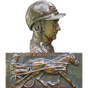Bronze Harness Racing O'Brian Award - Bust of Joe O'Brian - P.E.I. Racing Hall of Fame