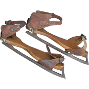 Antique Strap on Ice Skates c1890 or Earlier