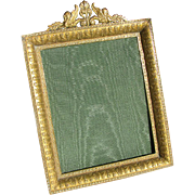 Antique French Ormolu Frame c1880 Gilded Bronze Easel Frame Griffin Motif
