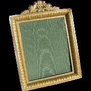Antique French Ormolu Frame c1880 Gilded Bronze Easel Frame Griffin Motif