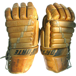 Vintage Leather Forte Hockey Gloves Custom Pro 800