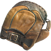 Vintage Buckle Back Baseball Mitt c1925 First Baseman's