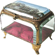 Antique French Jewel Box c1890 Souvenir Trinket or Jewelry Casket BIGGER THAN MOST