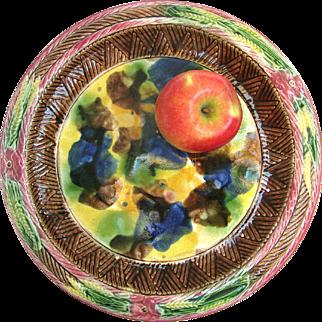 Antique Majolica Bread Platter c1880 English Majolica - Very Colorful