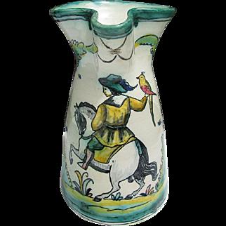 Vintage Puente Arzobispo Faience Maiolica Art Pottery Sangria Pitcher