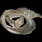 Vintage Kerala Silver Belt Dated 1967 - Ethnic Wedding Belt INDIA
