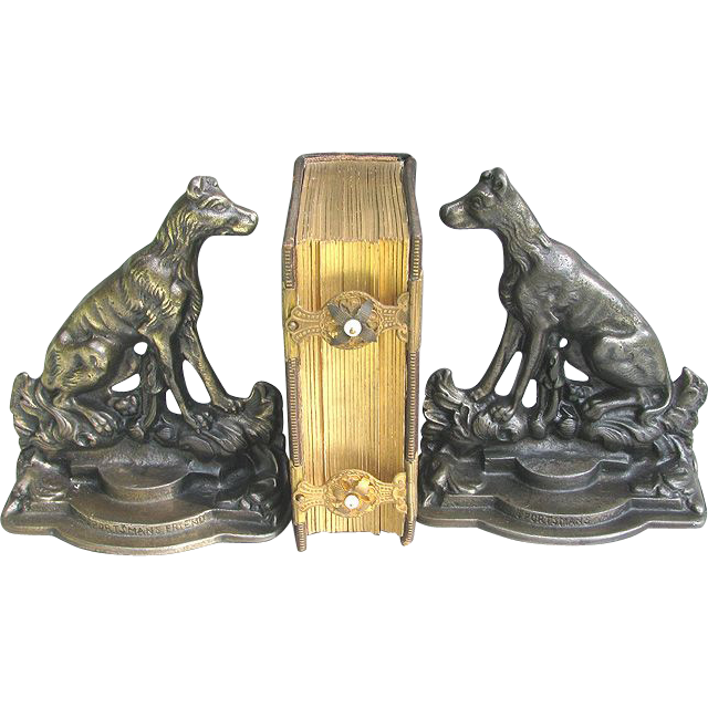 Retriever Dog Bookends SPORTSMAN'S FRIEND Artist Signed