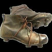 Vintage Junior Arsenal Soccer Shoes England c1920