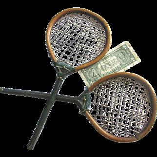 Antique Childrens Badminton Rackets c1850 Kids Racquets