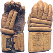 Vintage Leather Lacrosse Gloves - Cooper and Peck Auer Model