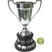 Large Vintage Tennis Trophy - 1931 Port Hope Tennis Ladies Singles