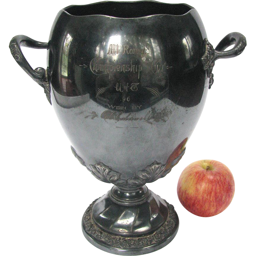Antique Collegiate Trophy 1896 Track and Field University of Toronto Championship Trophy