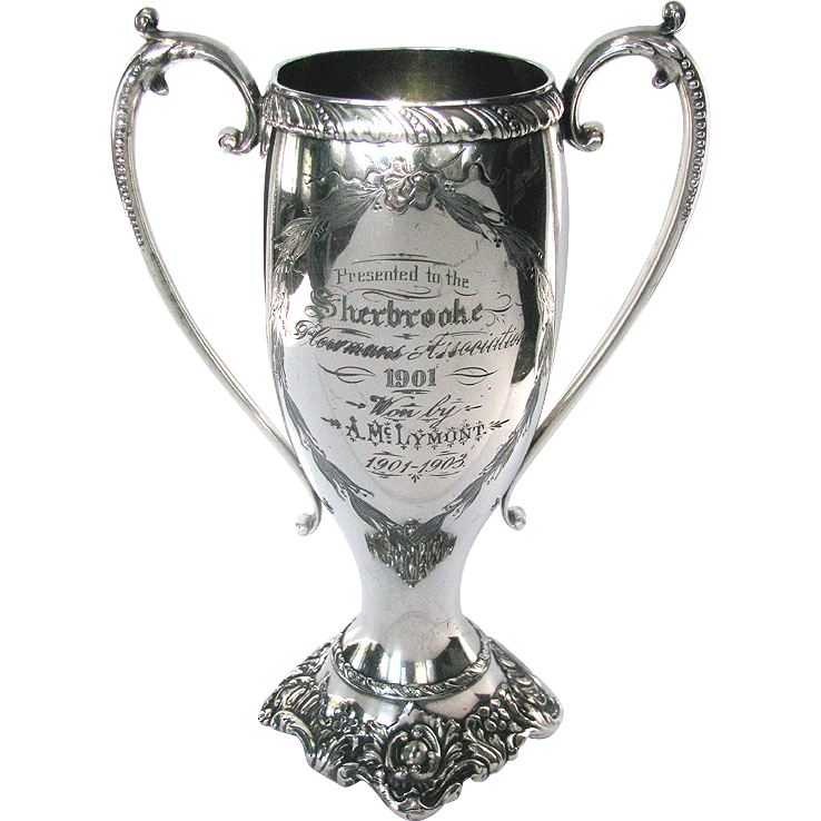 Pairpoint Plowmens Association Trophy 1901 Sherbrooke Quebec