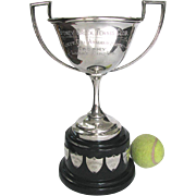 Vintage Silver Tennis Trophy 1930 Ladies Singles - Nice One